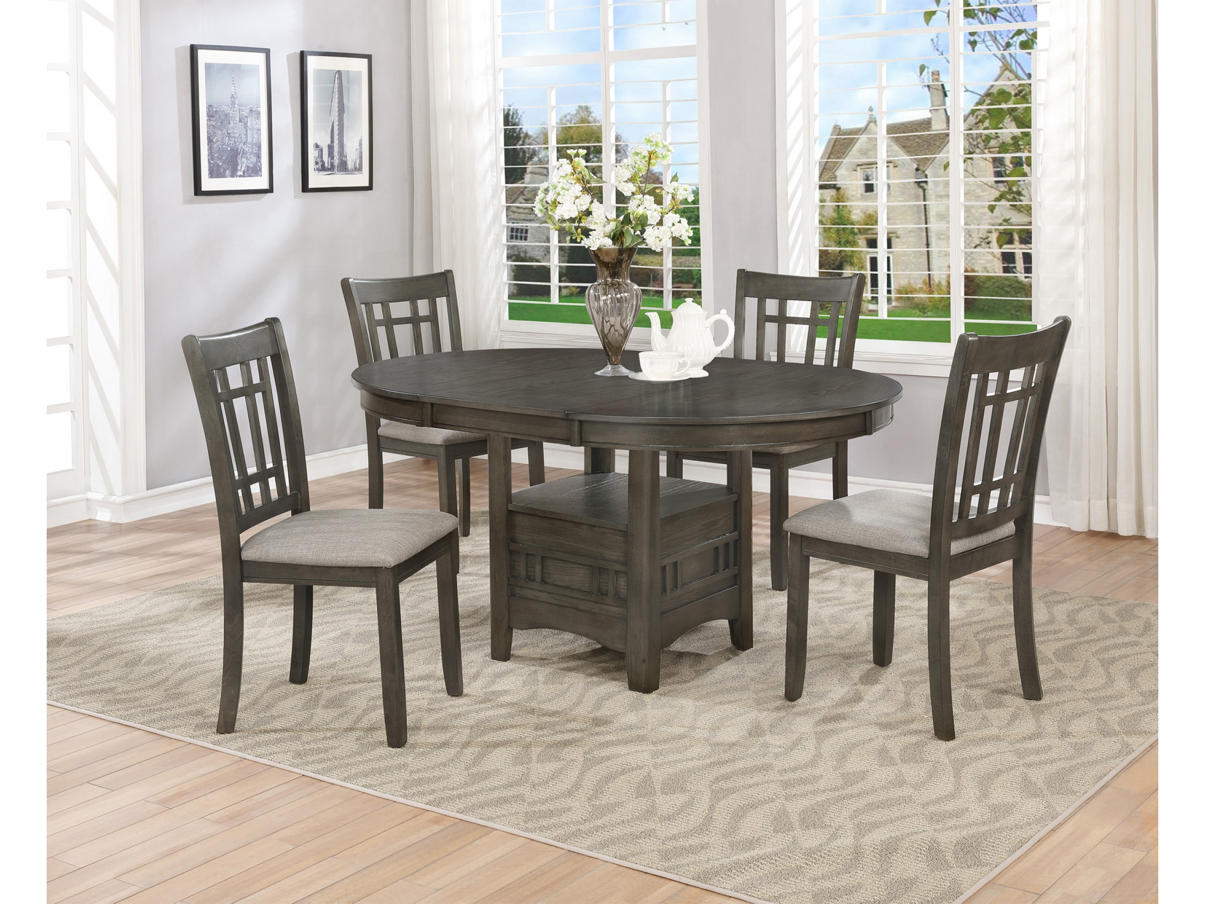 Outstanding Vegas 5 Pc Dining Table Set Uwap Interior Chair Design Uwaporg