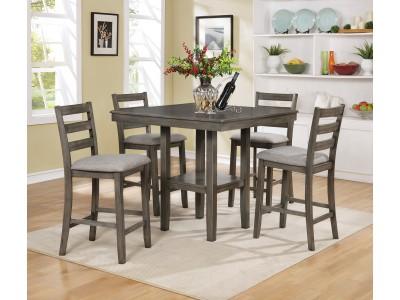 Bambú - 5-PK - Counter Height - Table -Grey