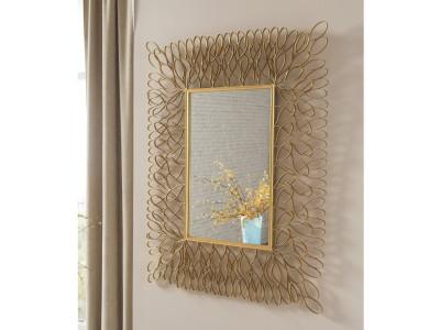 Ogdon Antique Gold Finish Accent Mirror