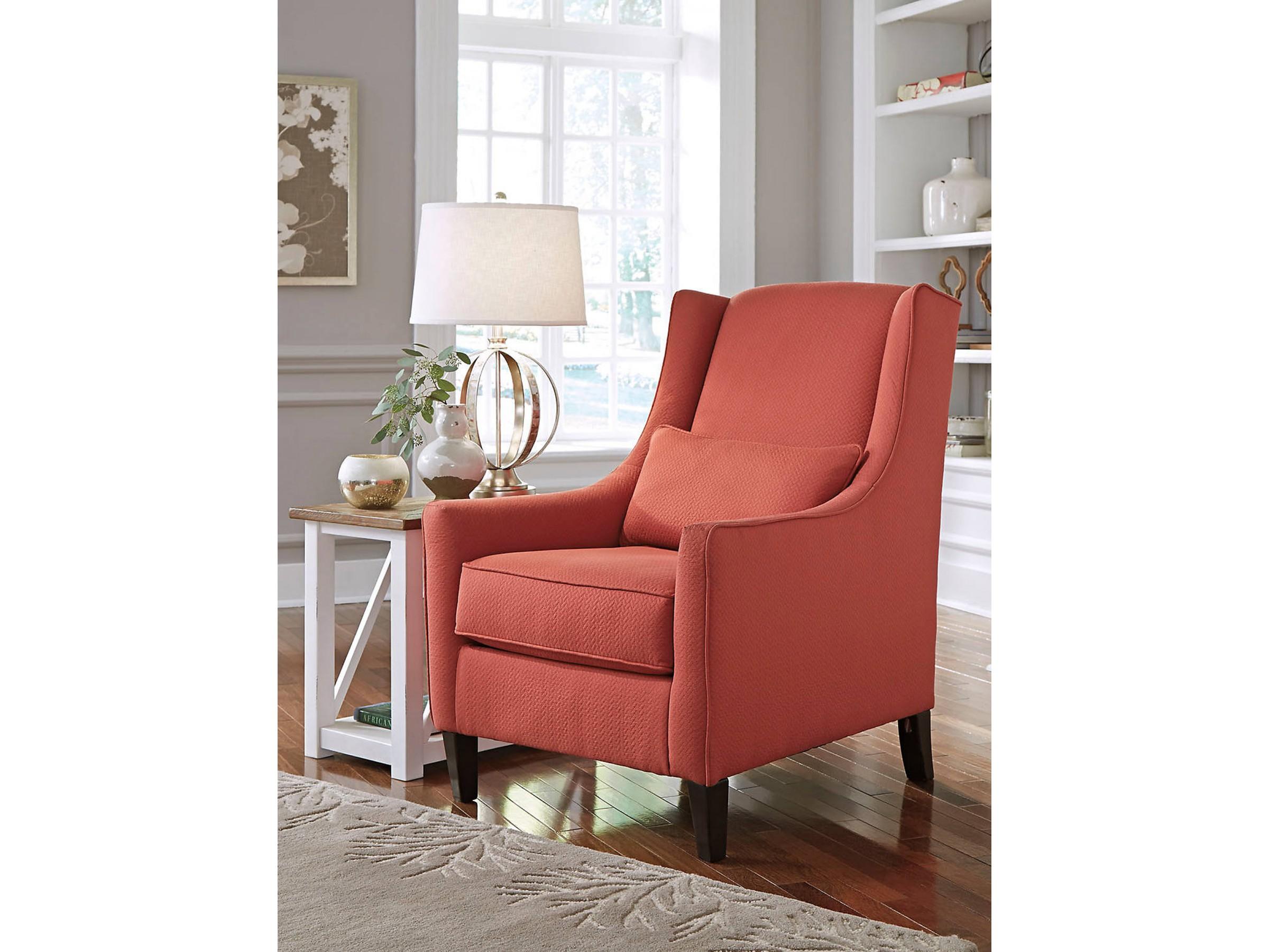 Swell Sansimeon Cinnamon Accent Chair Short Links Chair Design For Home Short Linksinfo
