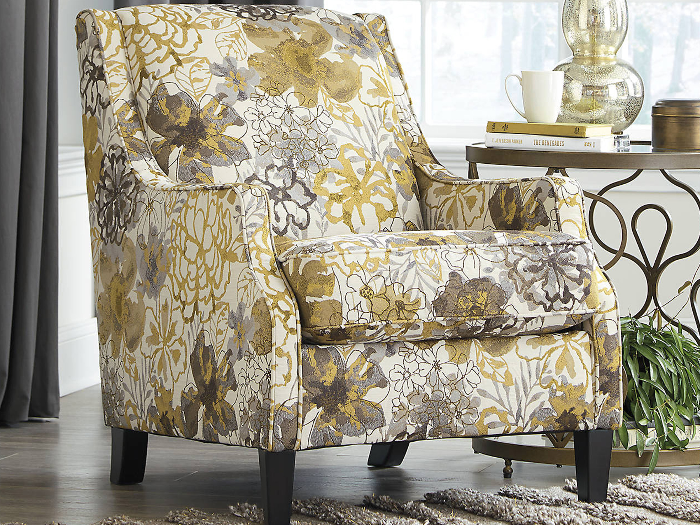 Magnificent Mandee Pewter Accent Chair Short Links Chair Design For Home Short Linksinfo