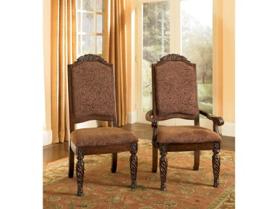 North Shore Dark Brown Dinning UPH Arm Chair