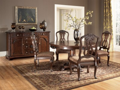 North Shore Dark Brown Dining UPH Arm Chair
