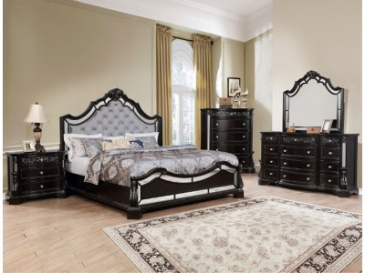 Bankston Sleigh - 4PC - Bedroom Set