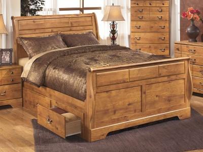 Yvonne - Queen Sleigh Storage Bed