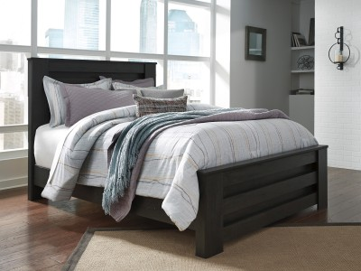 Longo - Black - Queen Panel Bed