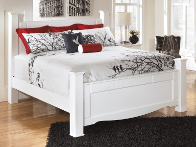 Luther -White - Poster Bed