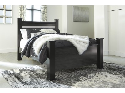 Ashley Blackberry Poster Bed