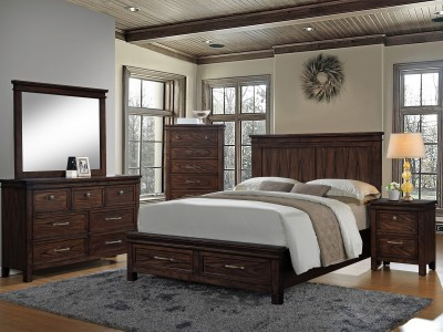 Cassidy 4PC Storage Bedroom Set