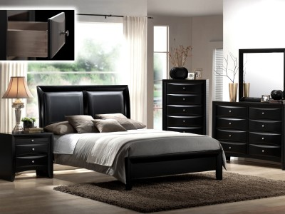 Eleine -  4PC Black Bedroom Set