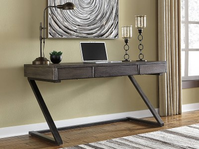 Harpoli - Grayish Brown - Home Office Desk