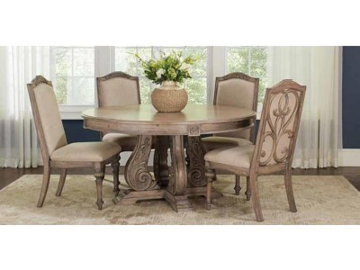 Ilene Collection Formal Round Dining Table Set