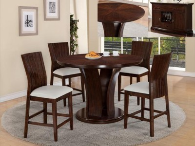 Zaria - 5PC - Counter Height Table Set