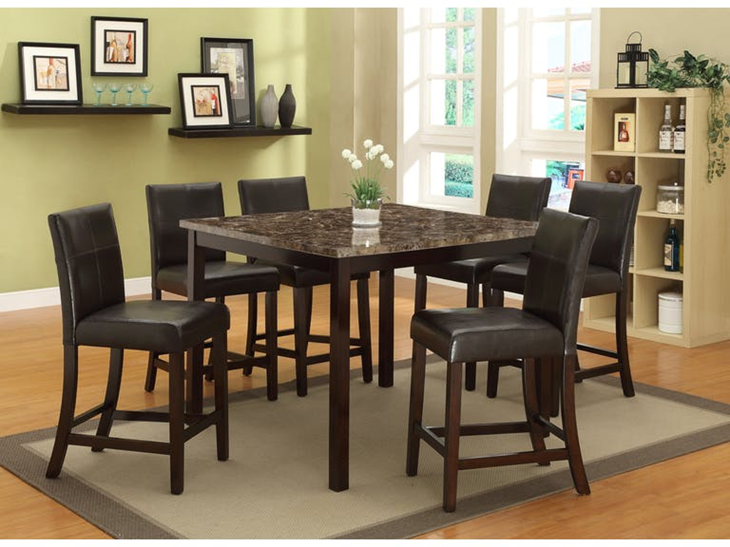 Rompei   5PC   Counter Height Dining Set ...