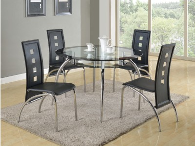 Hurricane - Round Dining Table Set