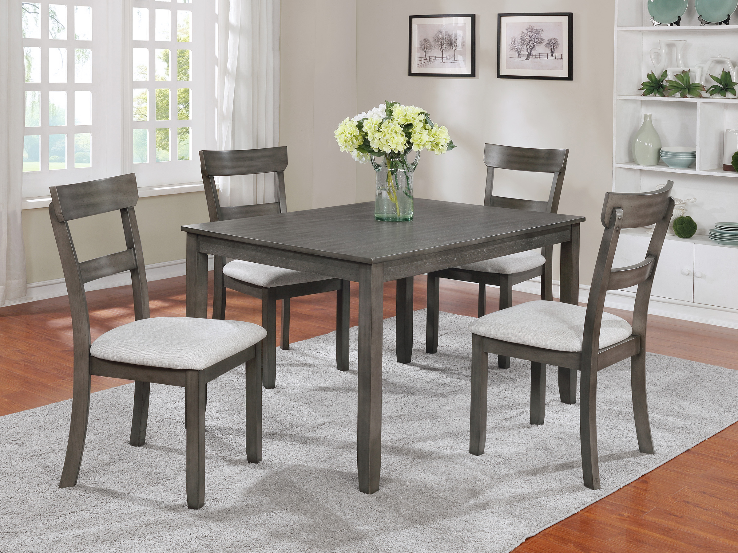 Kingston   Gray Dining Table Set ...