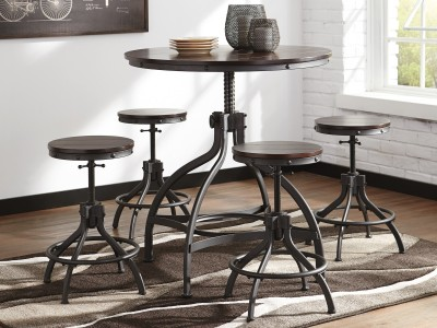 Amores - Round Counter Height Table Set