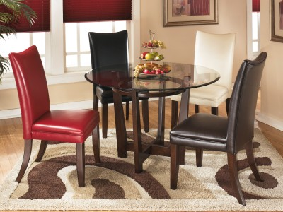 Charrell Round Glass Dining Table Set
