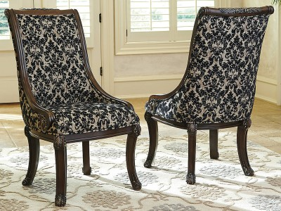 Raven - Brown - Dining UPH Arm Chair