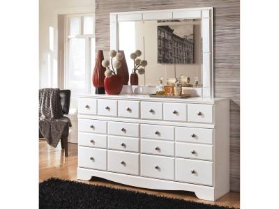 Luther - White - Dresser & Mirror