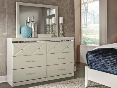 Lily -Champagne -  Dresser & Mirror
