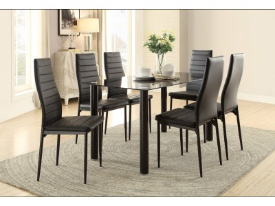 Florian Glass - 5PC - Dining Set