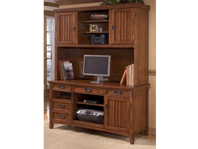 Cross Island Office Credenza & Small Hutch
