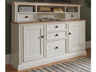 Sarvanny Office Credenza & Small Hutch