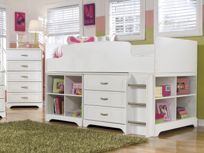 Lulu White Twin Loft Bed