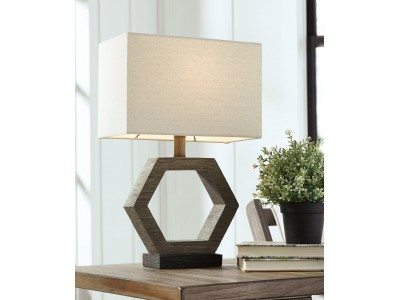 Copper poly table Lamp