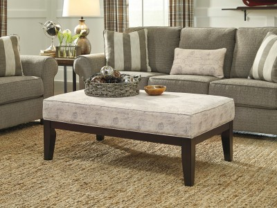 Saints - Gray - Oversized Accent Ottoman