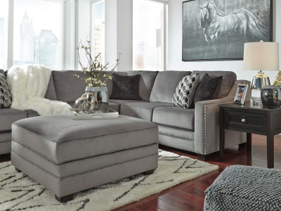 Bicknell Charcoal Ottoman With Storage