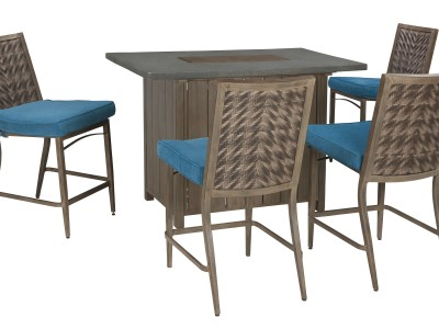 Partanna Fire Pit Pub Table