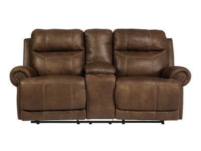 Clearmont -  Reclining Loveseat W/Console