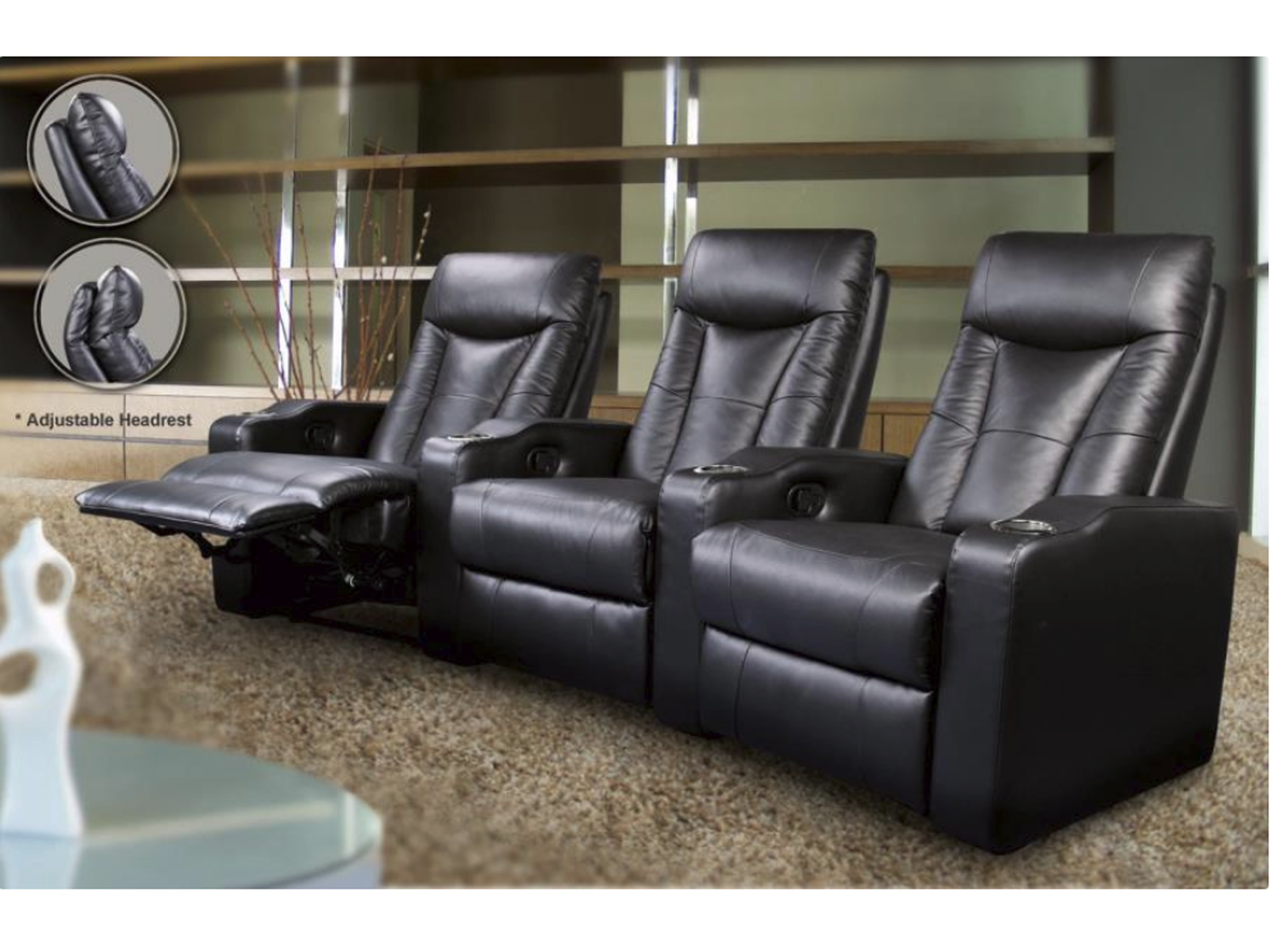 Arris - Home Theater Seats Black
