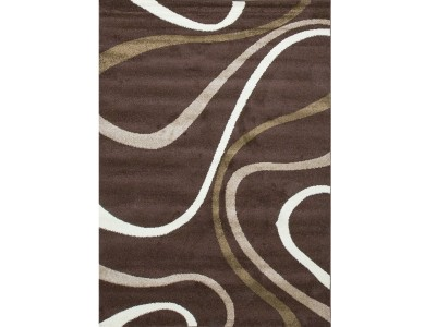 F Collection Brown Rug
