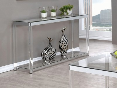 Hilda Glass Top - Sofa Table