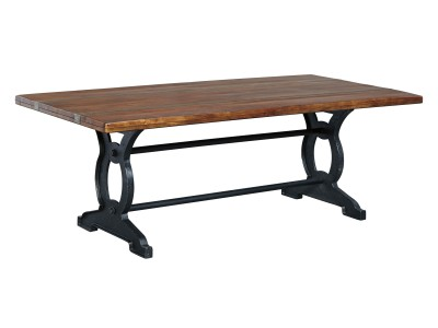 Zeni - Brown/Black Rectangular Dining Table
