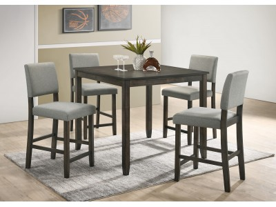 Erick 5PC Counter Height Grey Dining Set