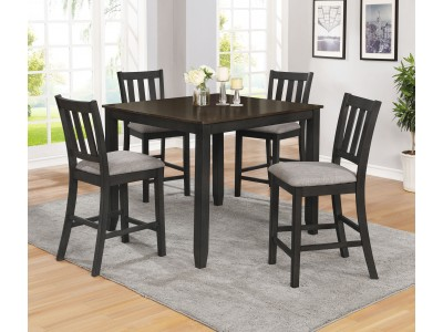 Crystal 5 Pc Counter Height Table