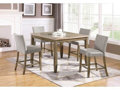 Carl 5PC Counter Height Table Set