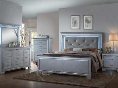 Briz - 4PC Lighted Bedroom Set