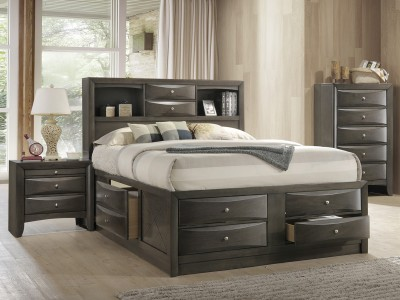 Eleine - Queen Storage Bed - Grey