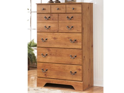 Yvonne - Light Brown - Five Drawer Chest