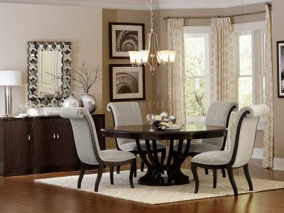 Angeles Forma Round Dining Table Set