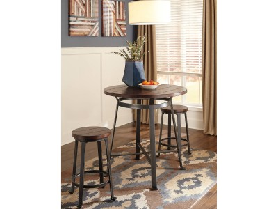 Anabell - 3Pc. - Round DRM Bar Table & Tall Stolls