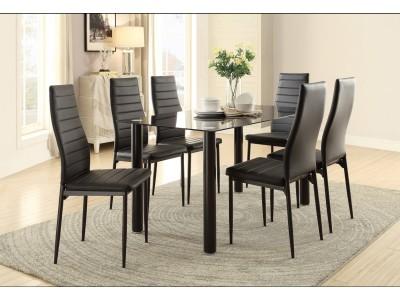 Florian Glass - 5PC - Dining Set