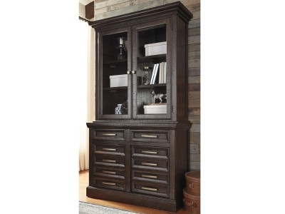 Townser Office Credenza & Tall Hutch
