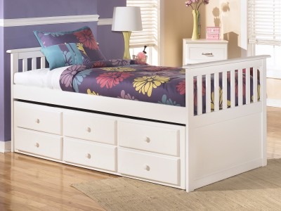 Lulu Twin Trundle Bed with Storage