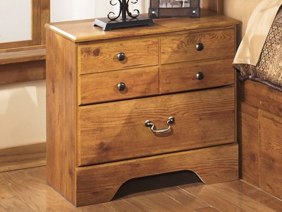 Yvonne - Light Brown - Two Drawer Night Stand
